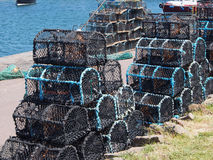 Lobster traps in Dunbar Royalty Free Stock Photo