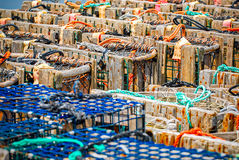 Lobster traps Stock Photography