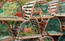 Lobster traps on hold. Royalty Free Stock Photo
