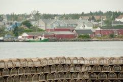 Lobster Traps - Louisbourg - Nova Scotia Royalty Free Stock Photography