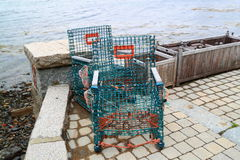 Lobster Traps Maine Coast Stock Photos