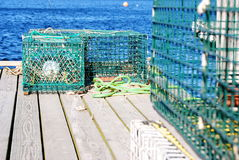 Lobster Traps In Maine Stock Photo