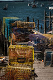 Lobster Traps Maine Stock Photo