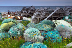 Lobster traps and netting Stock Photography