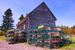 Lobster traps, New Brunswick Royalty Free Stock Images