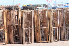 Lobster traps in P.E.I. Royalty Free Stock Image