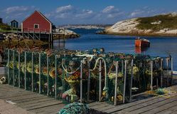 Lobster Traps at Peggy`s Cove stock photos