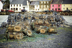 Lobster Traps. Piled up on Galway Bay Royalty Free Stock Photos