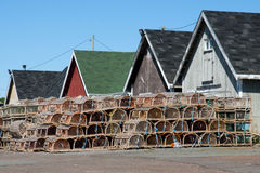 Lobster Traps - Prince Edward Island - Canada Royalty Free Stock Photo