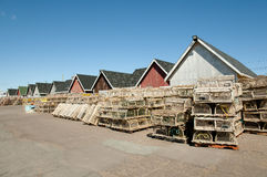Lobster Traps - Prince Edward Island - Canada Stock Images
