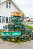 Lobster Traps in Rockland Maine Royalty Free Stock Photo