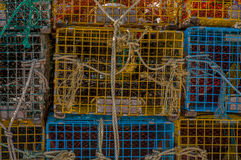 Lobster Traps in Stack Royalty Free Stock Images