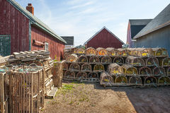 Lobster traps Royalty Free Stock Photo