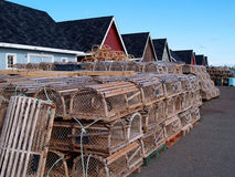 Lobster Traps on the Wharf Royalty Free Stock Image