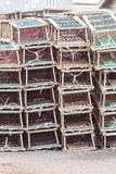 Lobster Traps on Wharf Stock Images