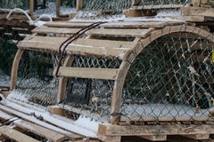 Lobster Traps on Wharf Royalty Free Stock Photo