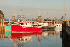 Lobster trawlers royalty free stock photos