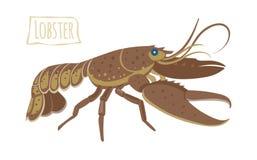 Lobster, vector cartoon illustration. Vector illustration of a lobster, cartoon style vector illustration