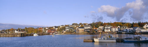 Lobster Village in Autumn, royalty free stock photos