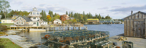 Lobster Village in Autumn Royalty Free Stock Photo