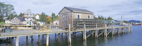 Lobster Village in Autumn Royalty Free Stock Photography