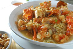 Lobster w/braised E-Fu noodle Stock Images