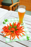 Lobsters and beer Royalty Free Stock Image