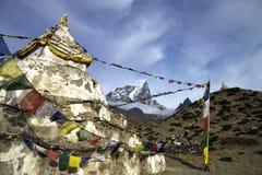 Lobuche mountain sagarmatha national park Stock Image