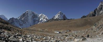 Lobuche in Nepal stock afbeelding