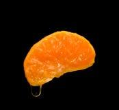 Lobule of fresh mandarine Stock Photo