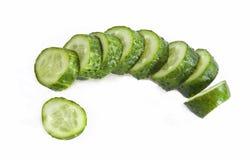 Lobules of cucumber Stock Photo