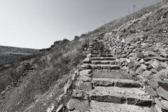 Locais arqueológicos de Golan Heights Fotografia de Stock