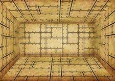 Locais da chapa metálica do ouro, sala interior imagens de stock royalty free