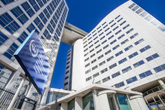 Locais internacionais do Tribunal Penal Foto de Stock