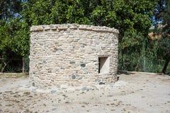 Locais pré-históricos do mediterrâneo oriental, Choirokoitia (KH Foto de Stock