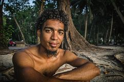 A local aboriginal man royalty free stock photography
