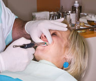 Local anesthesia for mature lady Royalty Free Stock Image