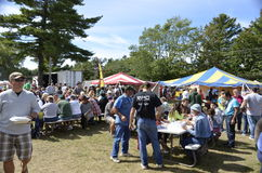Local Apple and BBQ Festival Royalty Free Stock Image