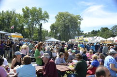 Local Apple and BBQ Festival Royalty Free Stock Photos