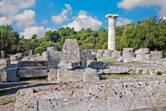 Local Archaeological da Olympia, Greece. Fotografia de Stock
