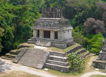 Local archaeological de Palenque, México imagens de stock royalty free