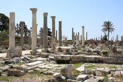 Local Archeological do pneumático, Líbano imagem de stock