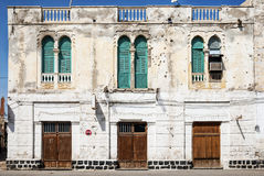 Local architecture street in central massawa old town eritrea Stock Photos