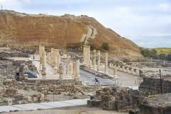 Local arqueológico, Beit Shean, Israel Imagens de Stock Royalty Free