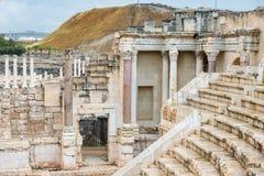 Local arqueológico, Beit Shean, Israel Imagens de Stock