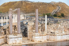 Local arqueológico, Beit Shean, Israel Imagem de Stock