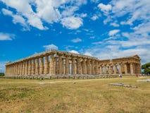 Local arqueológico de Paestum, Itália fotografia de stock royalty free
