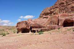Local arqueológico de PETRA Fotos de Stock
