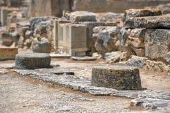 Local arqueológico do palácio de Phaistos na Creta Foto de Stock Royalty Free
