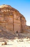Local arqueológico Madain Saleh de Al Hijr em Arábia Saudita Foto de Stock Royalty Free